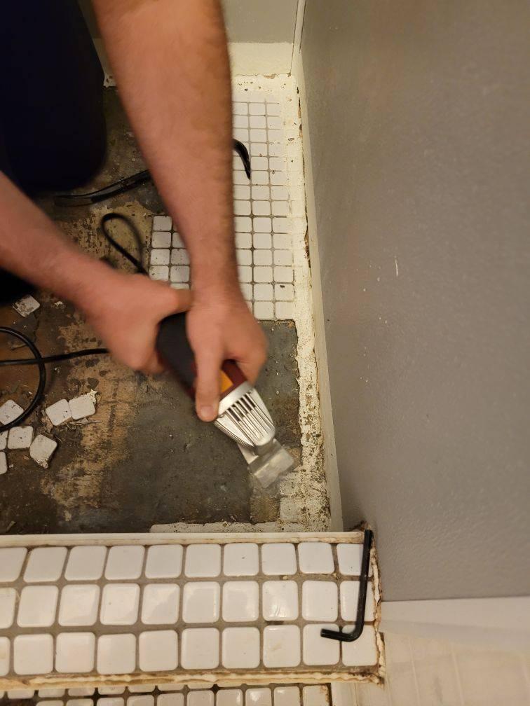 floor tile shower removal