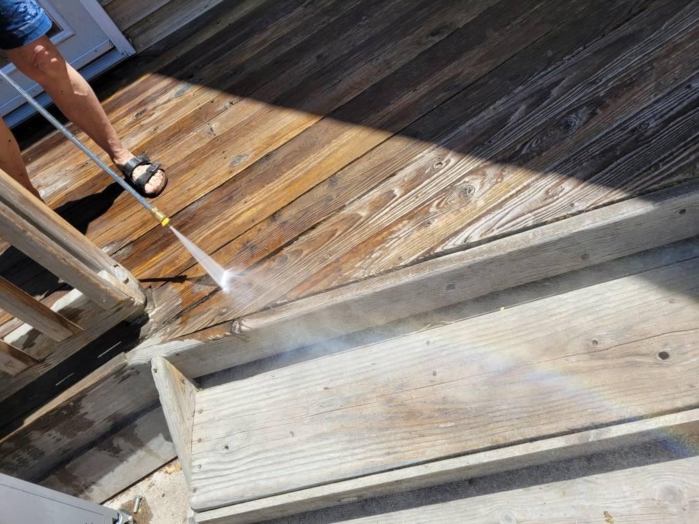 power wash deck