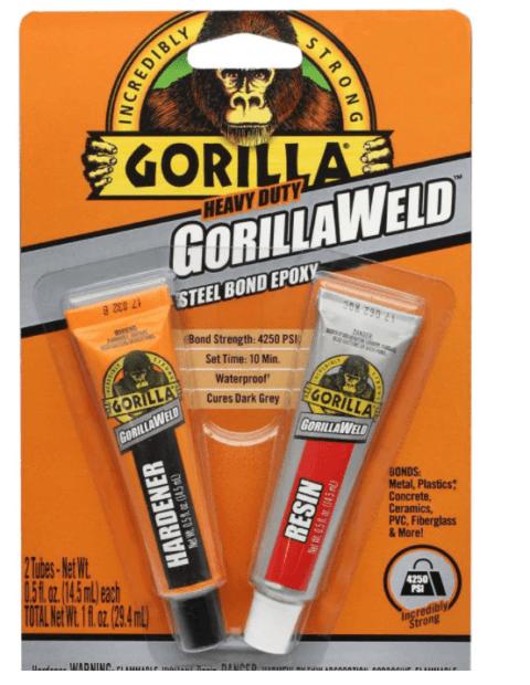 gorilla glue steel bond epoxy