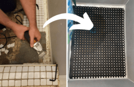 Easy Budget-Friendly Shower Floor Replacement [Scrap the Tiles!]