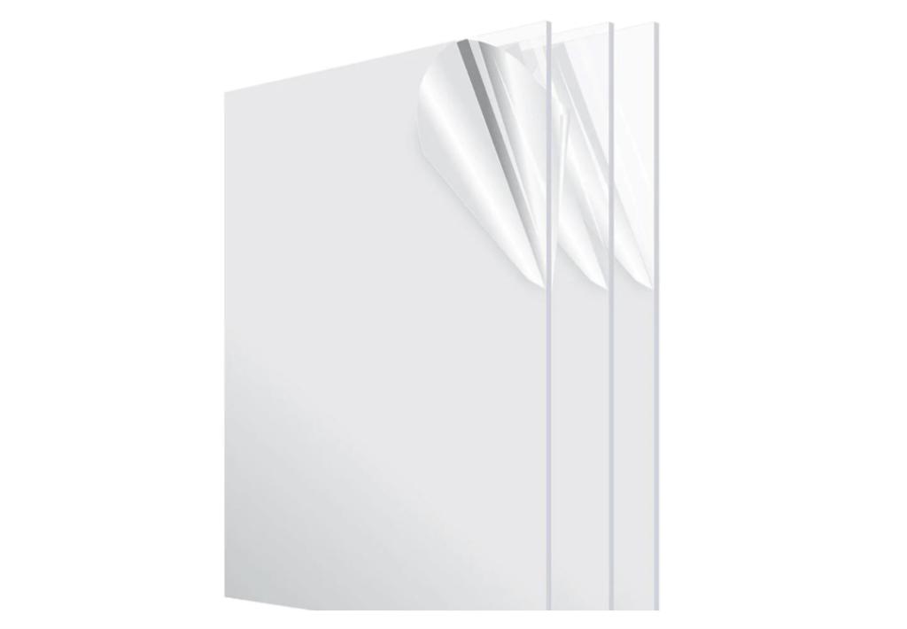 3 plexiglass acrylic sheets