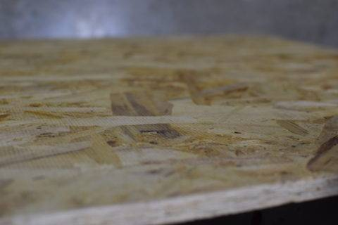 side view of plywood