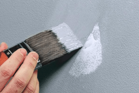 painting a patched hole in drywall