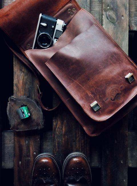 various leather goods