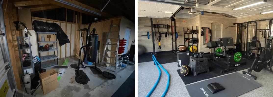 DIY Garage Gym Renovation