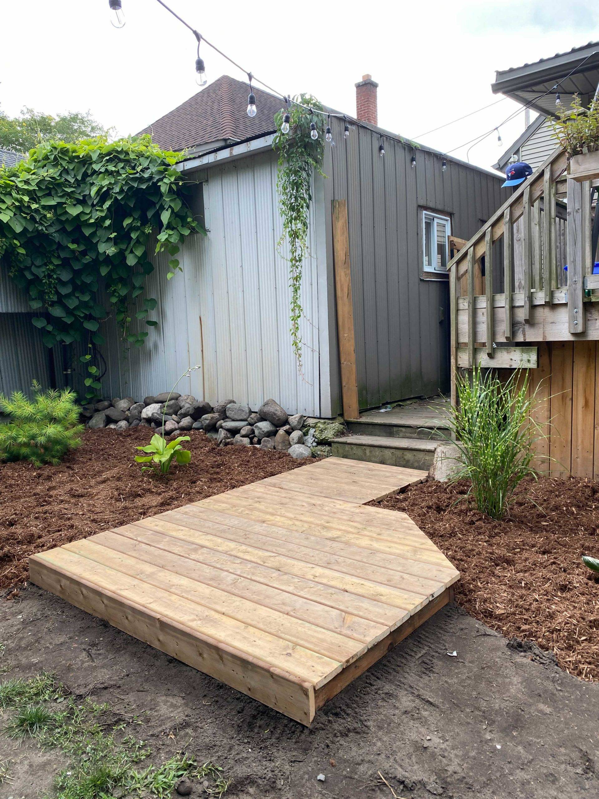 completed garden boardwalk