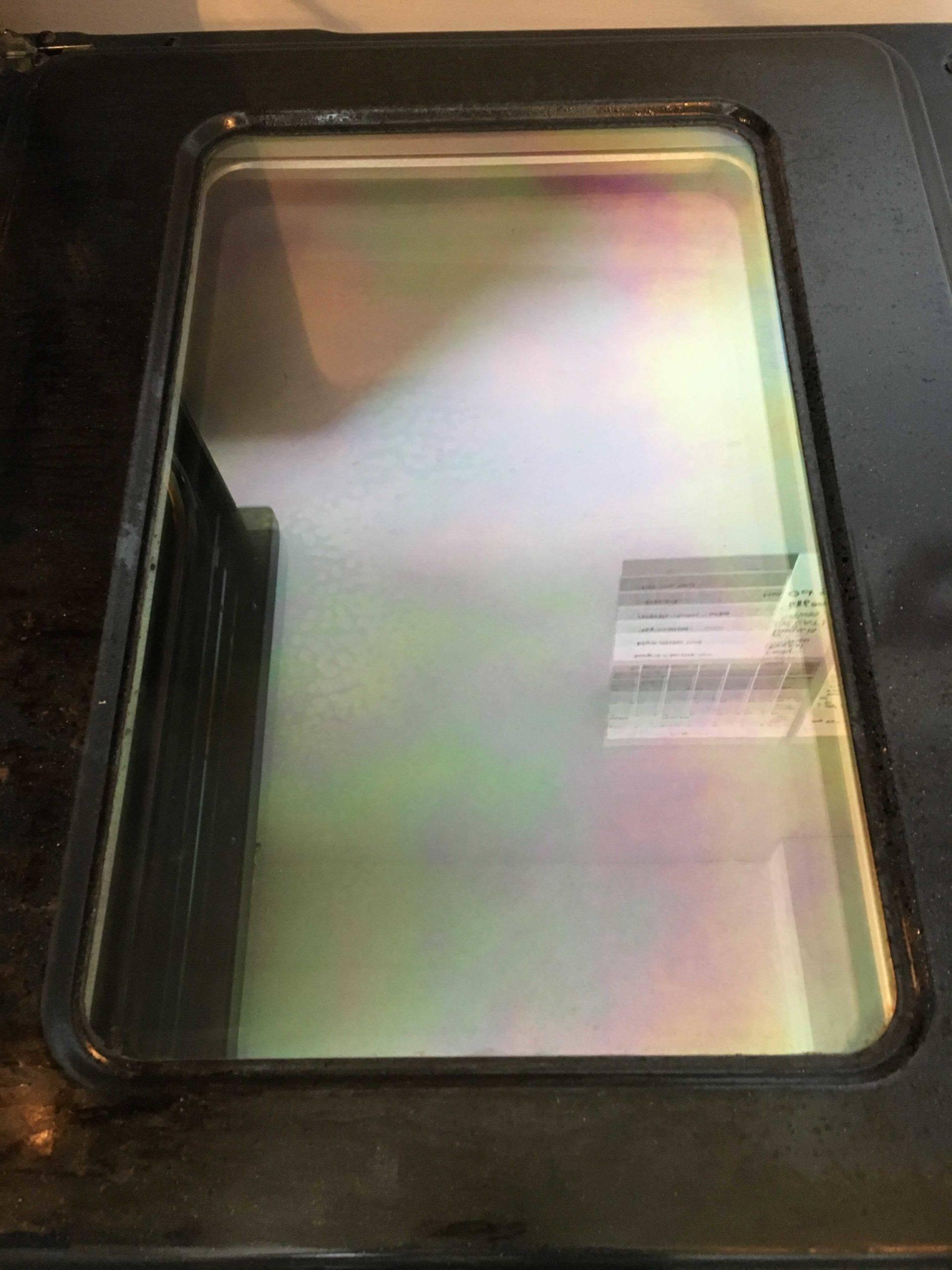 sparkling clean oven door