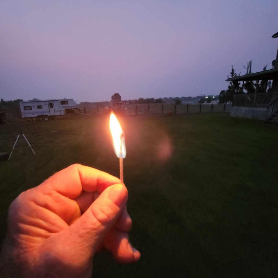 match burning