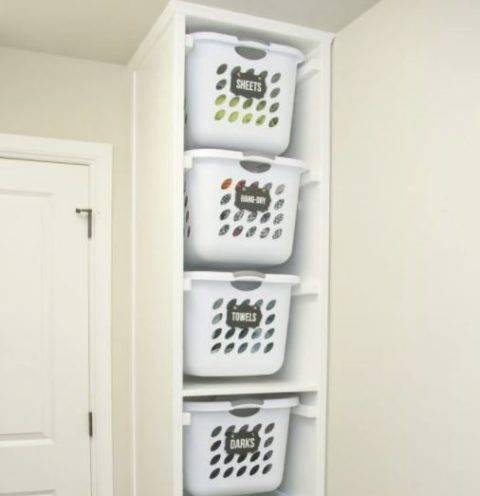 laundry basket storage